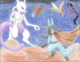 Confrontation on Cerulean Cave by The-Rebexorcist