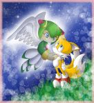 Sonic x tails and cosmo kiss