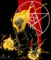 Collaboration: Ghost Rider by Dark-thief