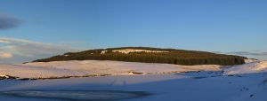 Jaw Reservoir Frozen Over: Second View by yaschaeffer