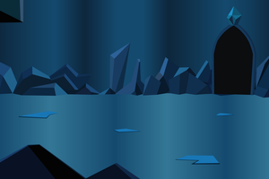 Crystal Cavern (Vector Background) by davidsfire