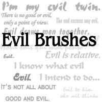 Evil Brushes 1 by sd-stock