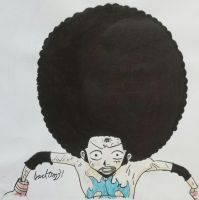 Monkey D. Luffy (Afro Luffy) by jackom31