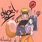 :NaruHina-Dinner Time: by d-clua