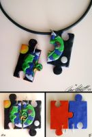 puzzleworld pendants by GabrielWings