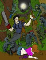 Evil Dead - Andrebdois Colored by Dystopia3000