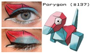 Pokemakeup 137 Porygon by nazzara