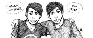 Dan And Phil by Smudgeandfrank