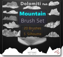 Mountain Brush Set Pack - Dolomiti 25 Brushes by MattiaMc