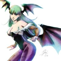 Morrigan Close Up by TheJayPhenrix
