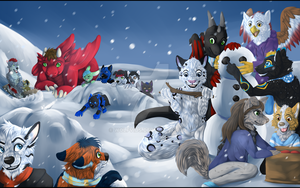 Winter fun by Wolfvids