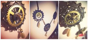 Clockpunk necklace by Verope