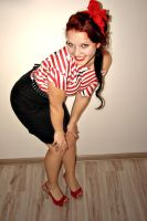 Pin Up Girl 3 by Klaudiqa-scarry-doll
