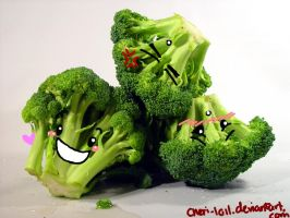 broccoli faces by cheri-lolle