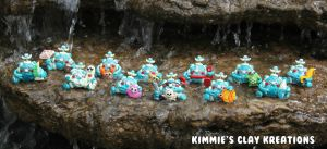 Polymer Clay Robots Aquatic Family by KIMMIESCLAYKREATIONS