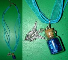 Angel Protection - Bottle Charm Necklace by Wilhelmine