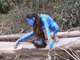 Avatar Costume close up by Ellofayne