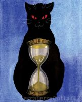 Time Cat by TerraTerraCotta