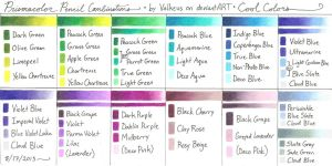 Prismacolor Pencil Combinations 3: Cool Colors by Valkeus-and-Varya