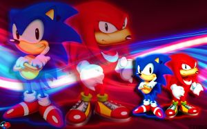 Sonic And Knuckles Wallpaper by SonicTheHedgehogBG
