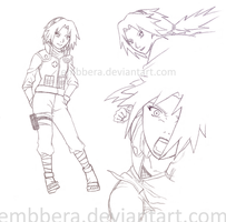 Older Sakura sketches by Embbera