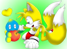 Tails and chao by Fly-Sky-High