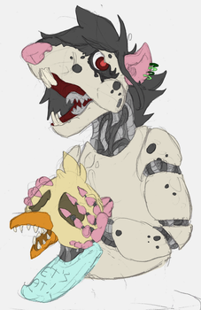 Big Mouth With Little Chicken by wolfmeg