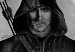Stephen Amell as Oliver Queen on the series Arrow by MaryCloe