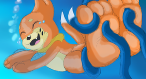Buizel Tickled underwater by Lu-1
