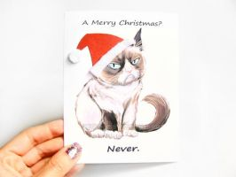 A Grumpy Cat Christmas by sobeyondthis