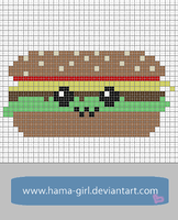 Happy Food Friends: Burger by Hama-Girl
