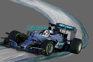 Mercedes W06 - Lewis44 by ShinjiRHCP