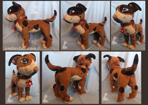 18in Damien OC Pitbull by EmberfallPlush