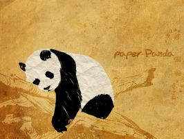 panda made of paper by paper-Panda