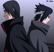Sasuke and Itachi Uchiha by KIRA-only