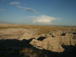 Storm Cloud Over The Badlands by opiumprincess
