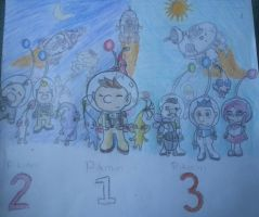 Pikmin 1, 2, and 3! (colored) by TeamSonicForever4910