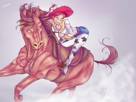 Jessie and Bullseye | Toy Story | Speed Painting by gorroazul