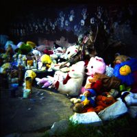 stuffed animal memorial by cedmundmiller