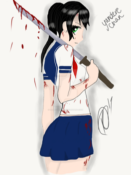 Bloody Yandere-Chan (Navi Base) by RienneCheshire
