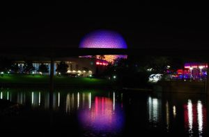 Epcot Center Night Glow by Arii-Suzuki
