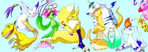 digidrawn prodigious digimon by Buuya