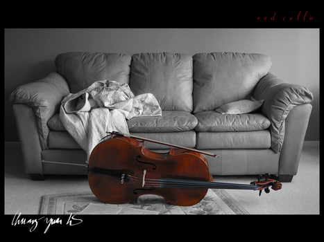 Red Cello by Kardinin