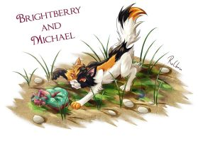 Brightberry and Michael (Brightberry's contest) by RoChou