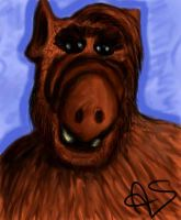 ALF (test-painting with my 1st graphic-tablet) by omenasan