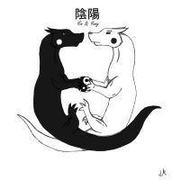 Dragons Yin and Yang by shademist030