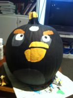 Angry Birds Pumpkin 2 by Stencils-by-Chase
