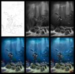 Underwater in process by Azot2014