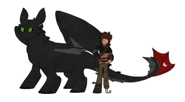 Hiccup and Toothless by missuny