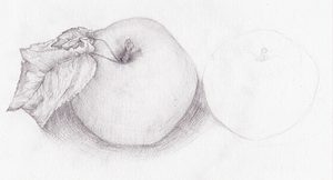 apple sketch by AnastaSilly